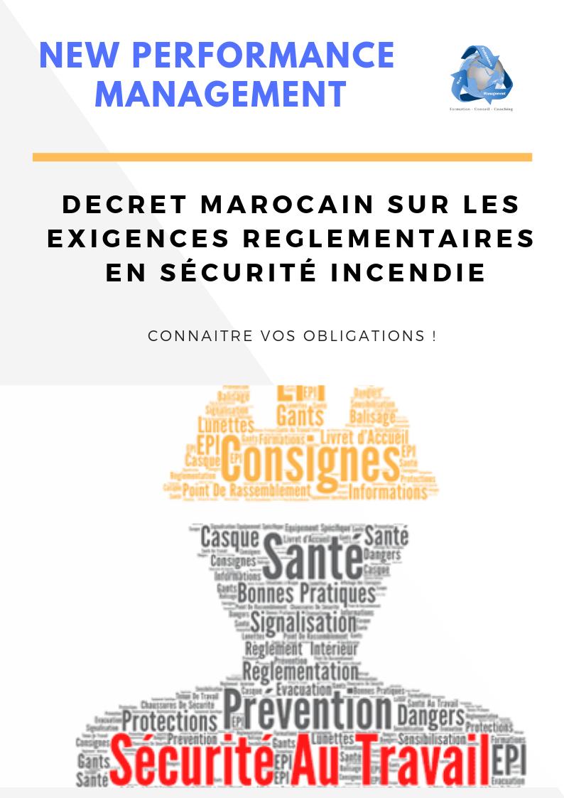 décret sécurité incendie au Maroc - Diagnostic/ audit de la sécurité incendie au Maroc