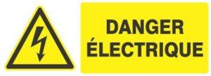 panneau danger lectrique 300x109 - LA SÉCURITÉ ELECTRIQUE